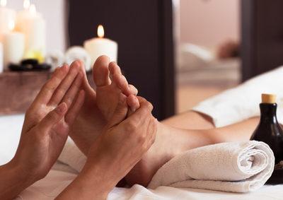 Fuß Druckpunkt Massage